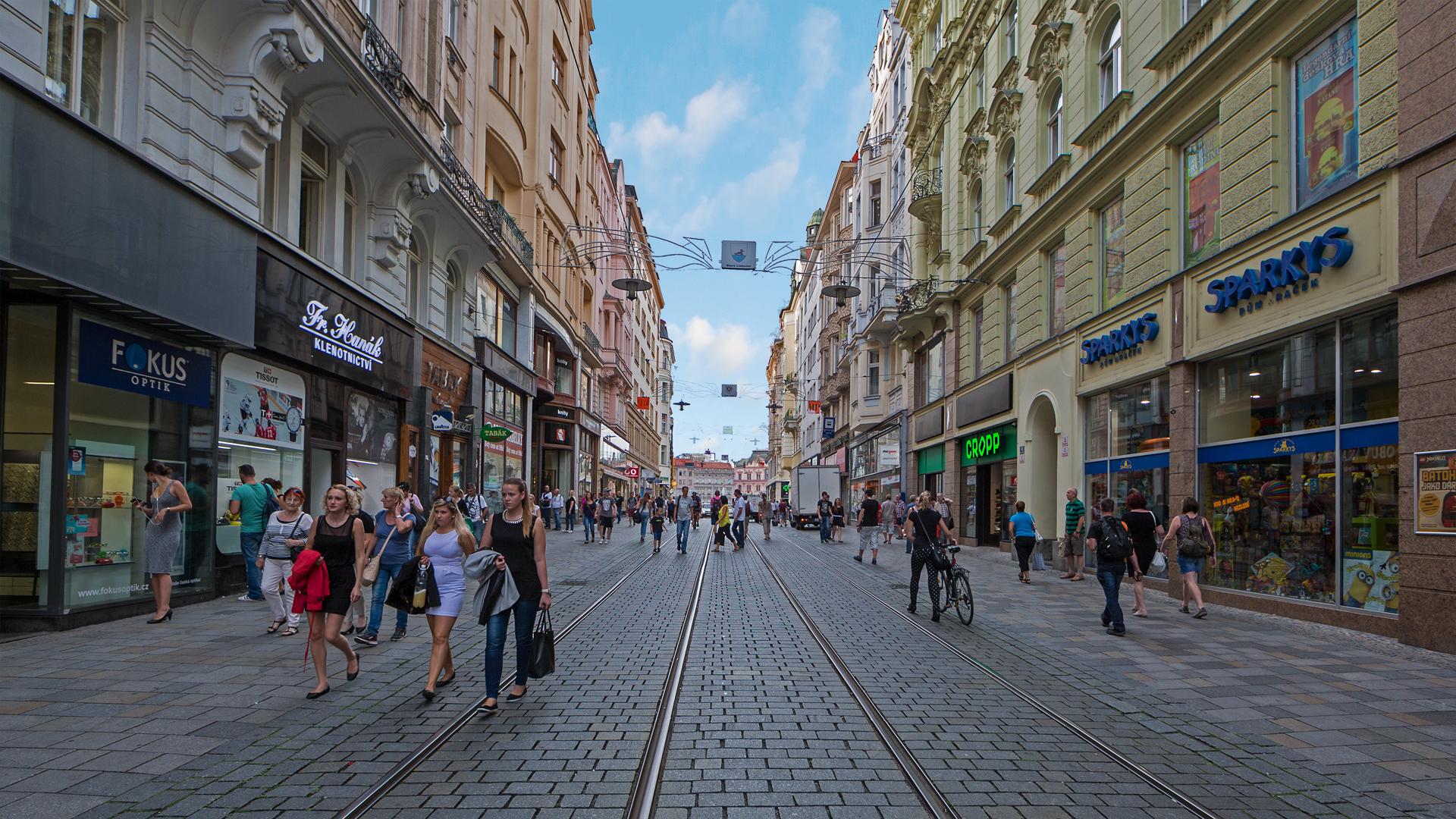 Masarykova Street in Brno