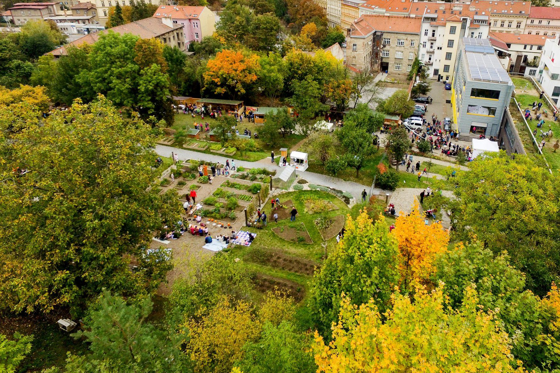 Otevřená zahrada v Brně - venkovní prostory