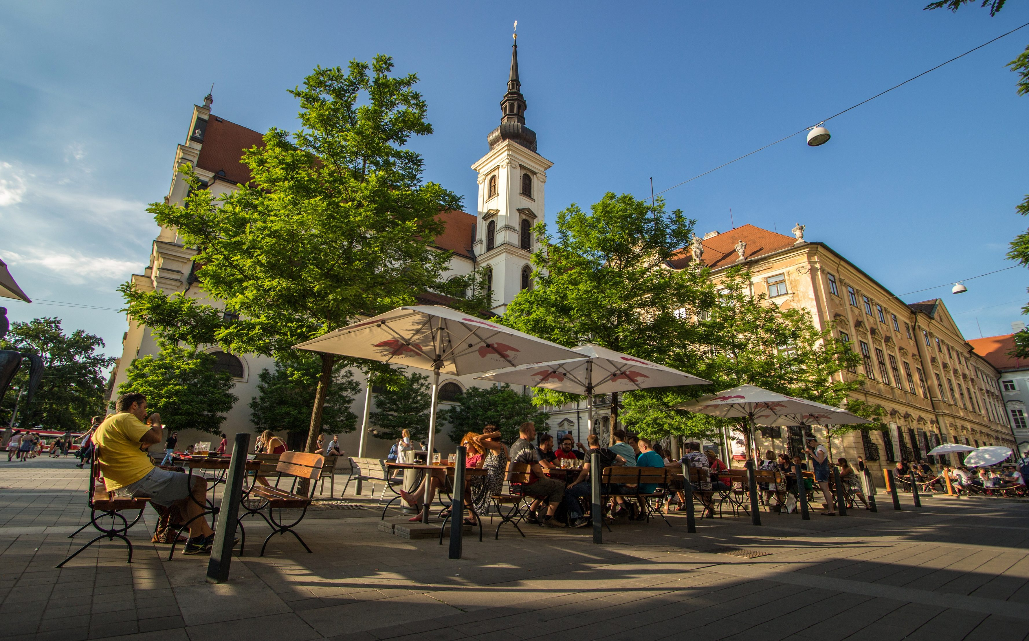 Moravian Square in Brno, Czech republic.