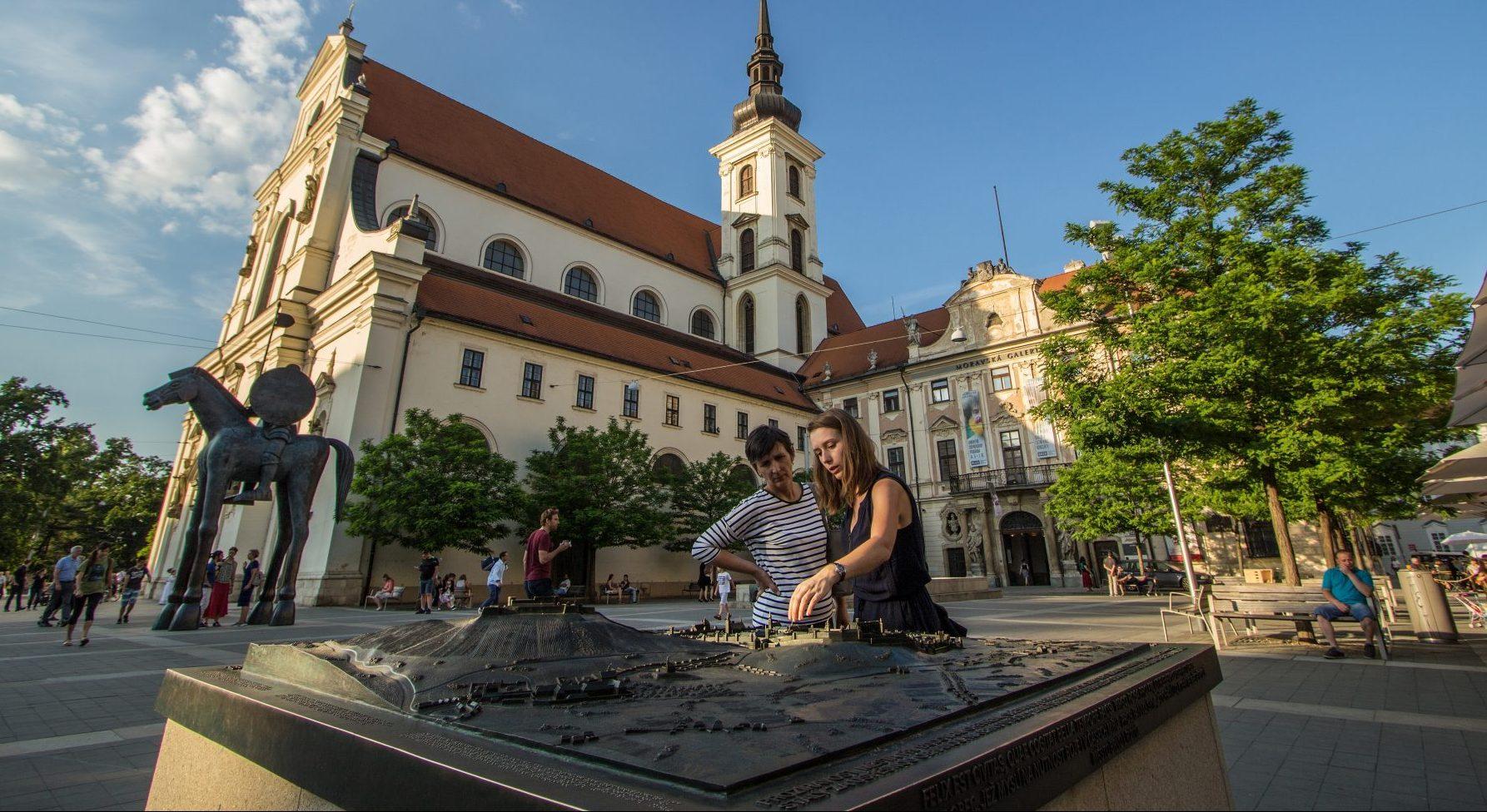 Moravské náměstí v Brně. Model Brna.