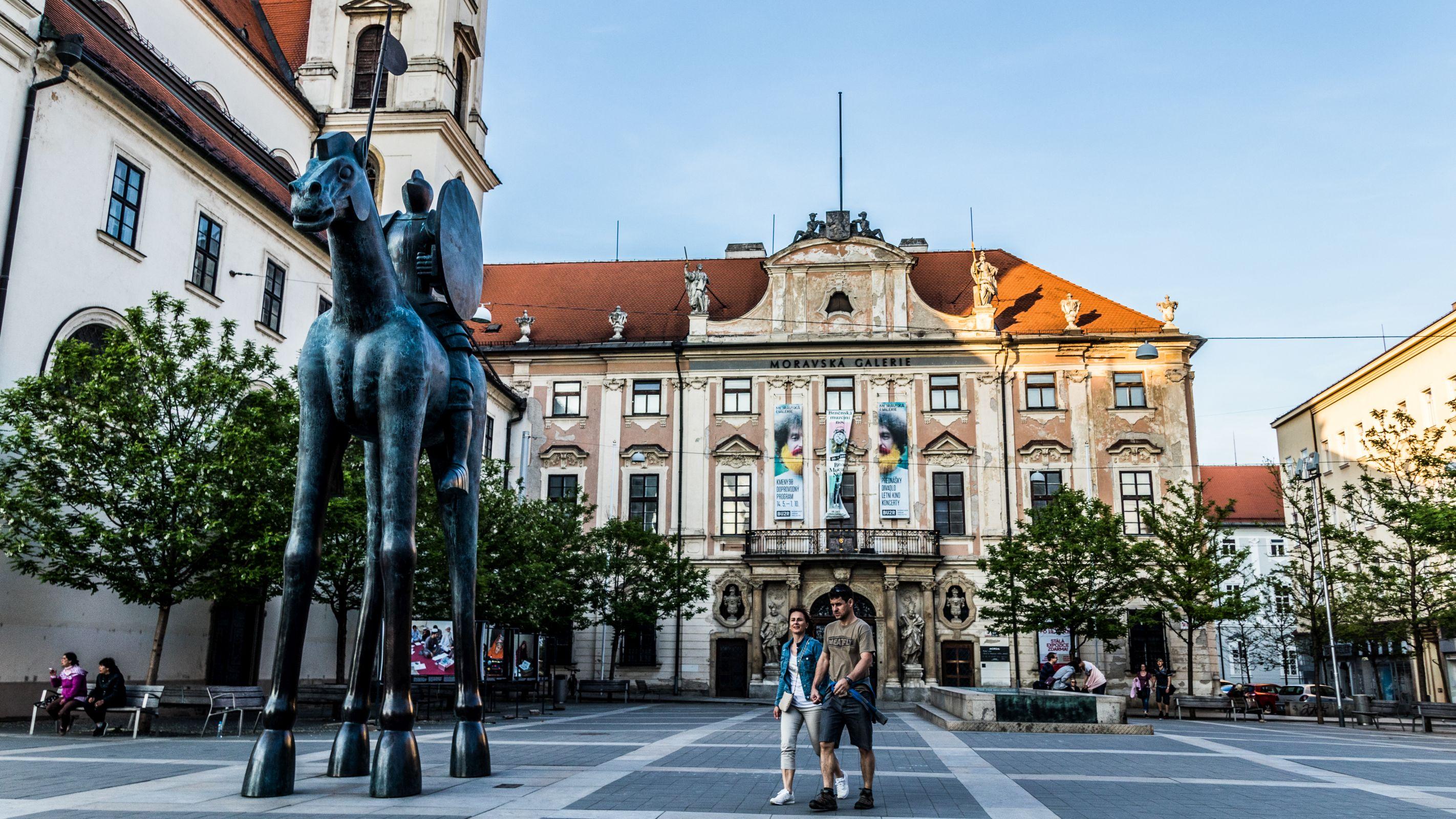 Moravian Square - statue of Jošt in Brno