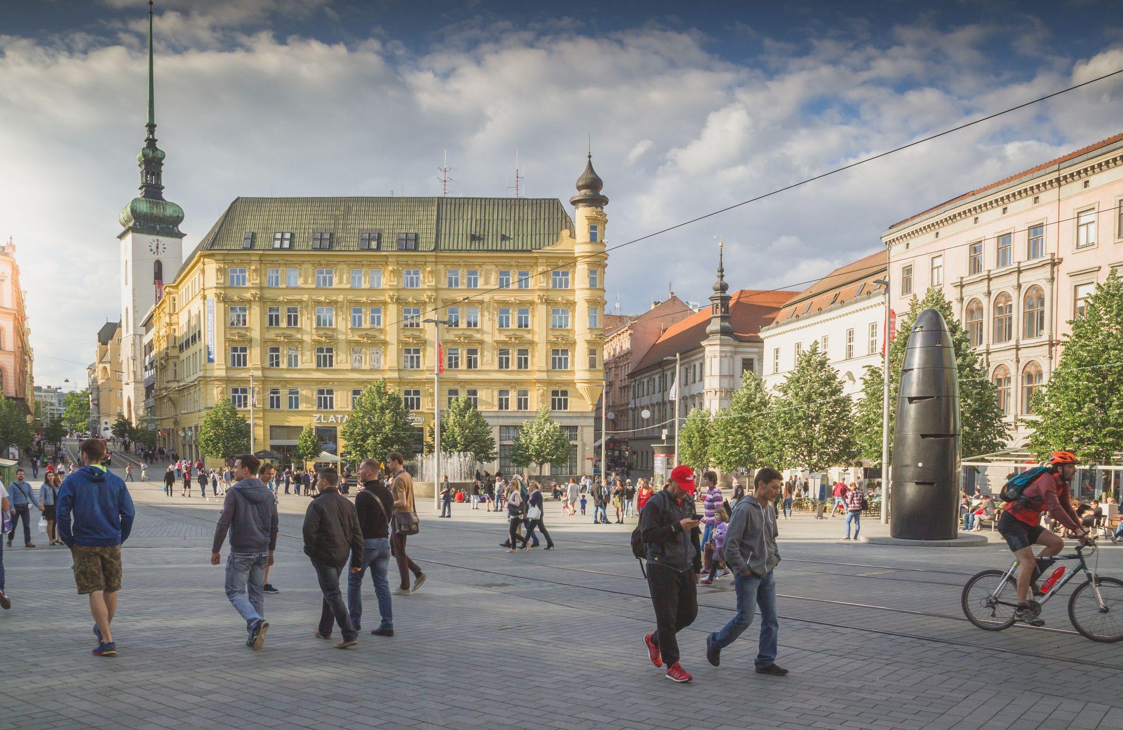 Freedom Square in Brno