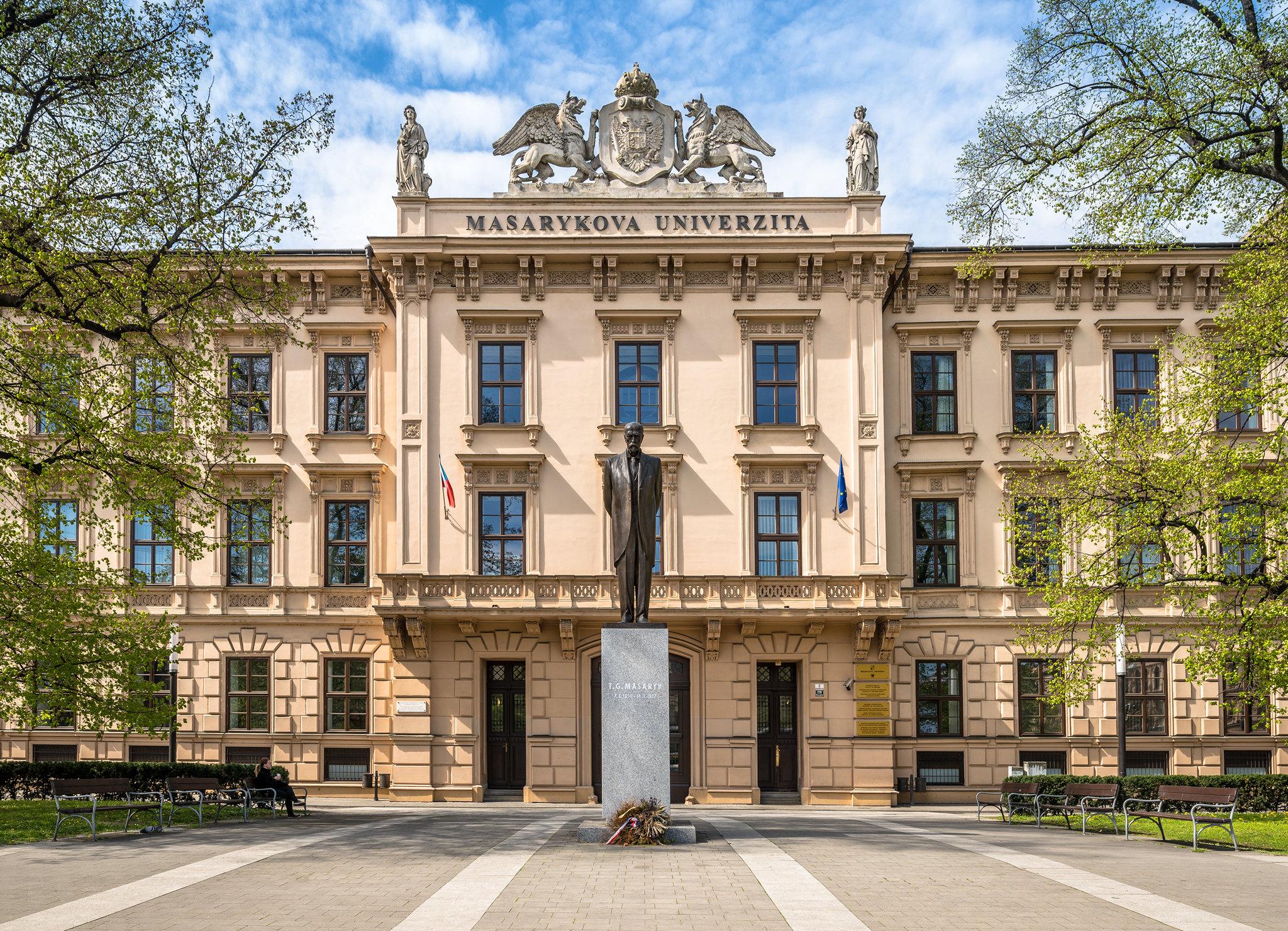 Masaryk University building in Brno