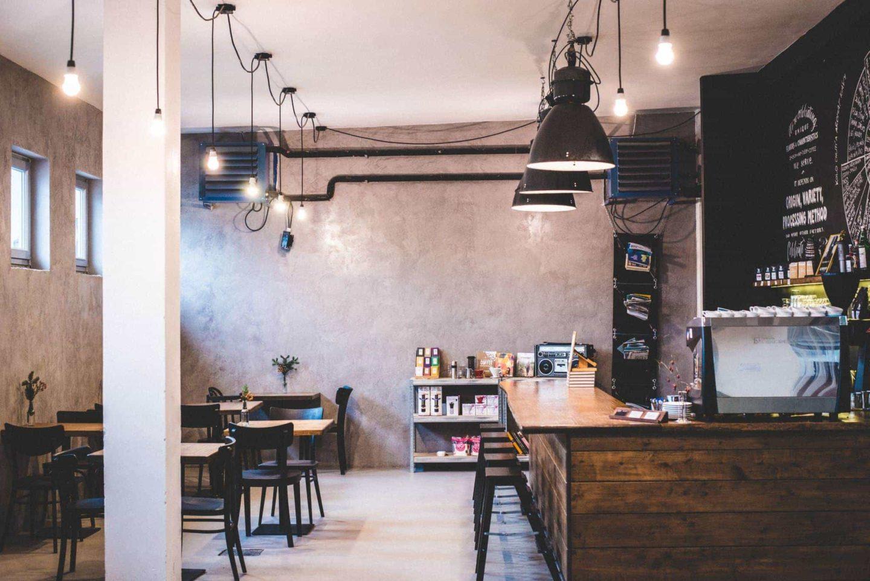kavárna industra coffee v Brně