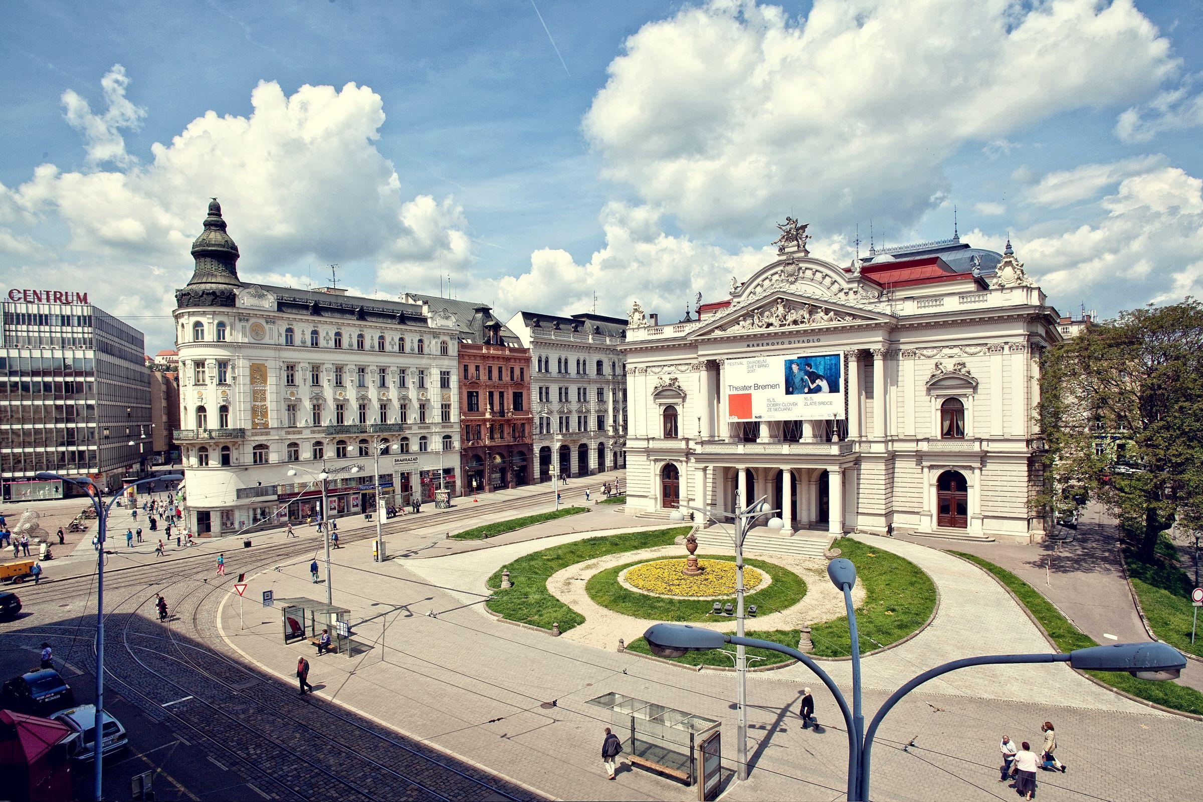 Malinovský Square (Malinovského náměstí) in Brno