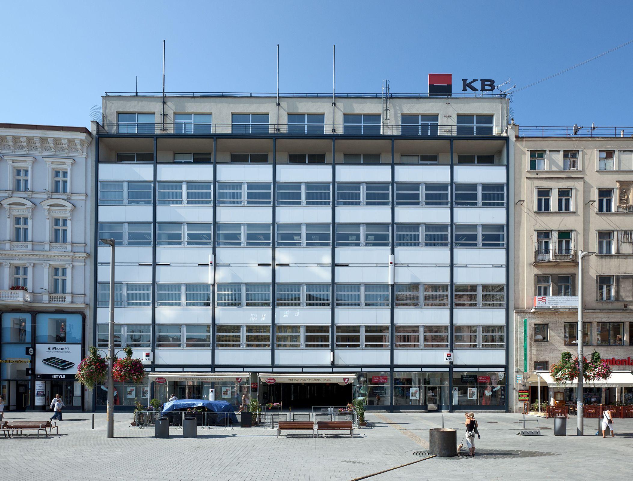 Moravská banka (now Komerční banka) in Brno