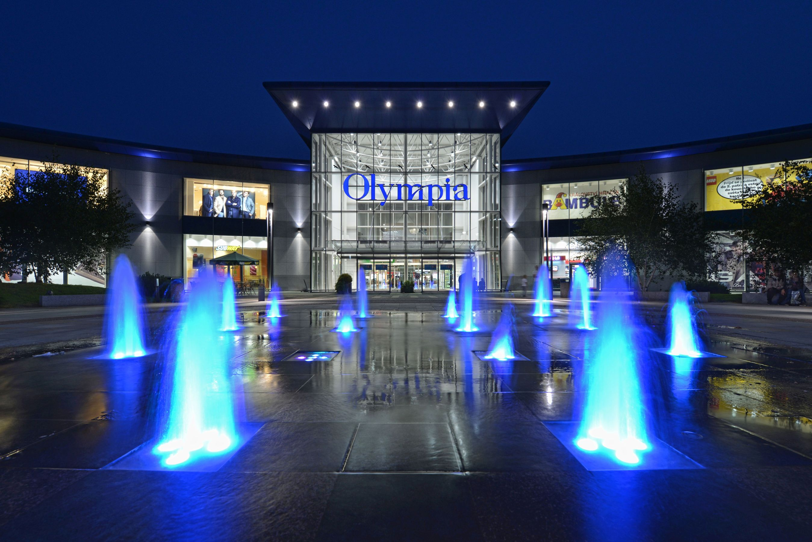 Olympia shopping centre in Brno