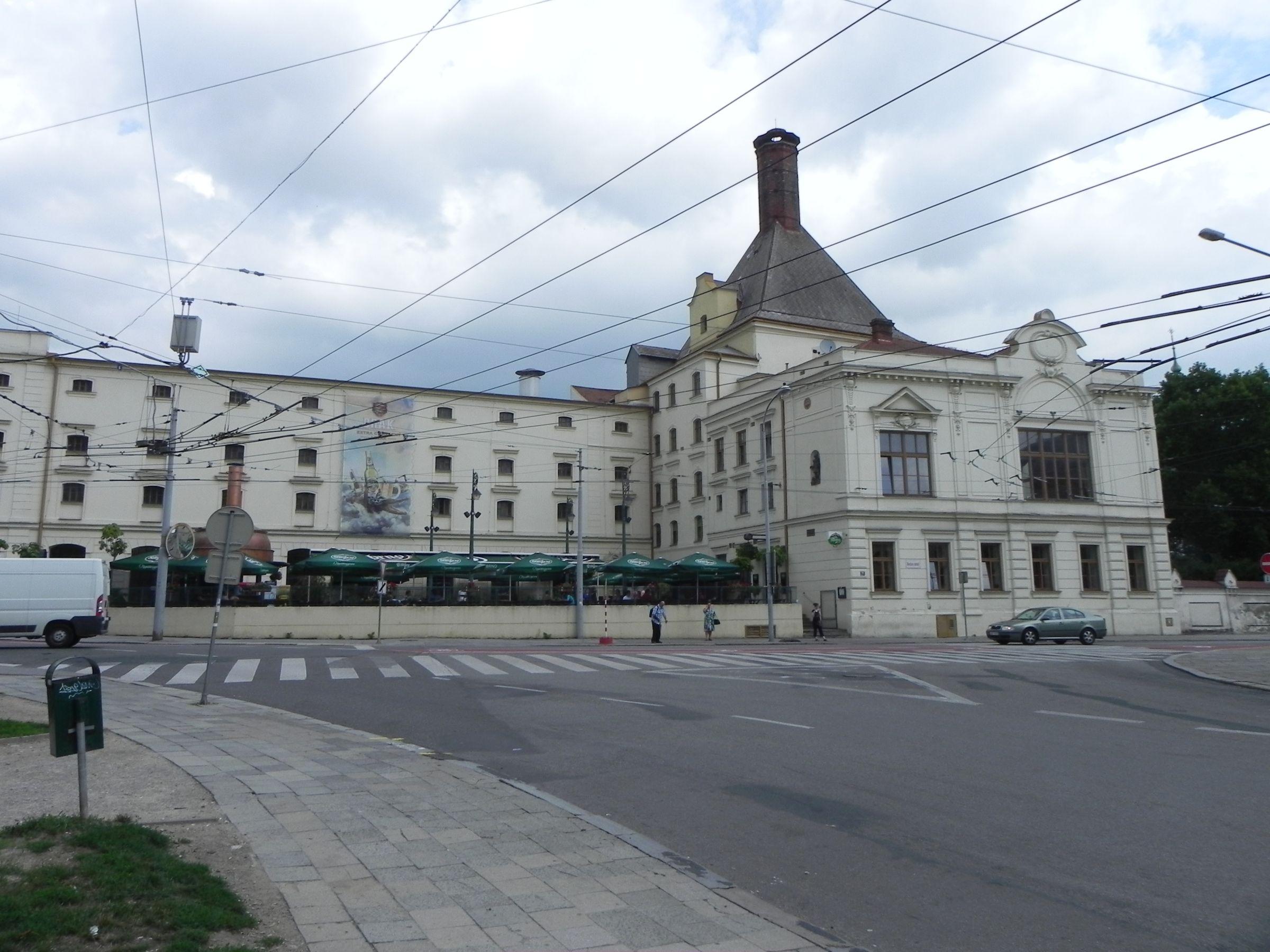 Mendel Square (Mendlovo náměstí), Starobrno brewery in Brno