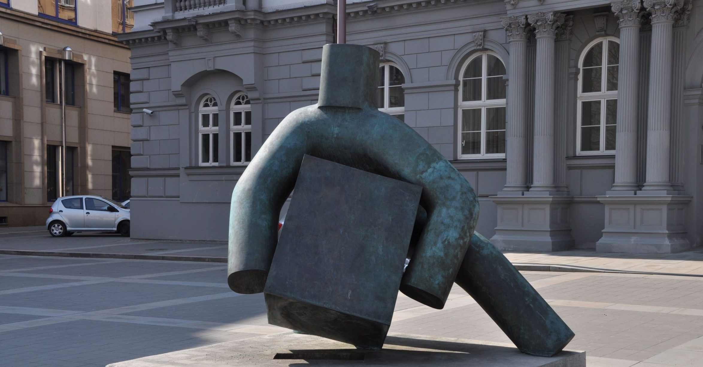 The statue of Justice by Marius Kotrba in Brno, Czech republic