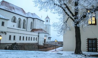 Špilberk Castle in Brno in winter