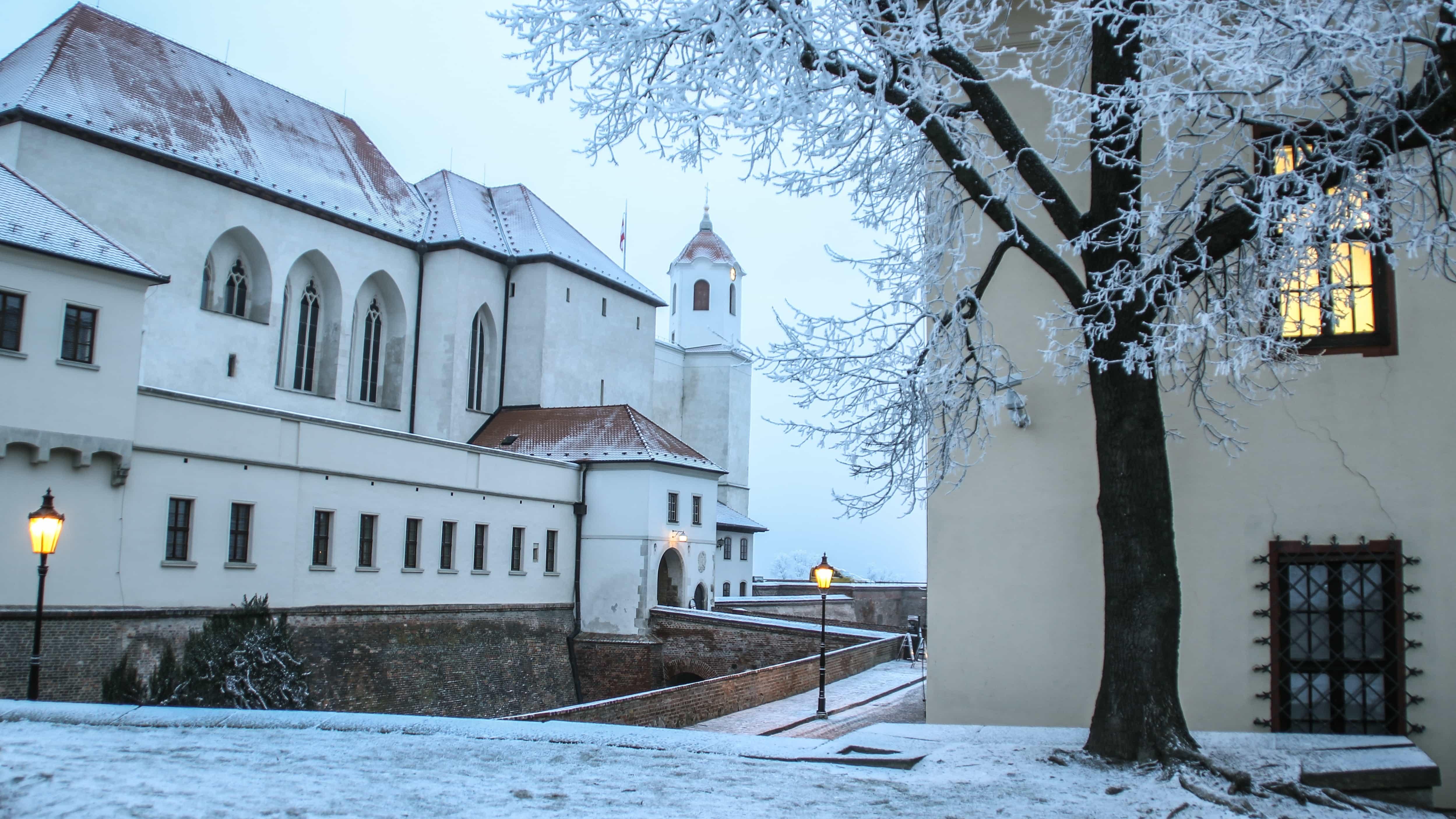 Špilberk Castle in Brno in winter