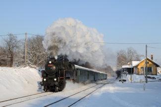Parní advent v Brně - lokomotiva 433.001 Skaličák
