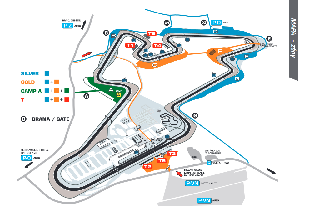 Grand Prix - Detailed plan of the complex