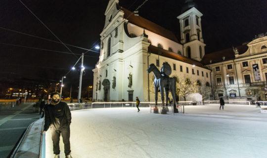 Bruslák na Moravském nám., foto: Jan Cága