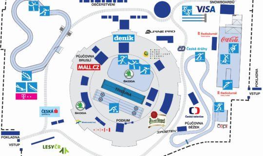 Olympijský park mapa