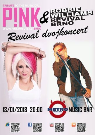 Koncert P!NK Tribute + Robbie Williams Revival v Brně