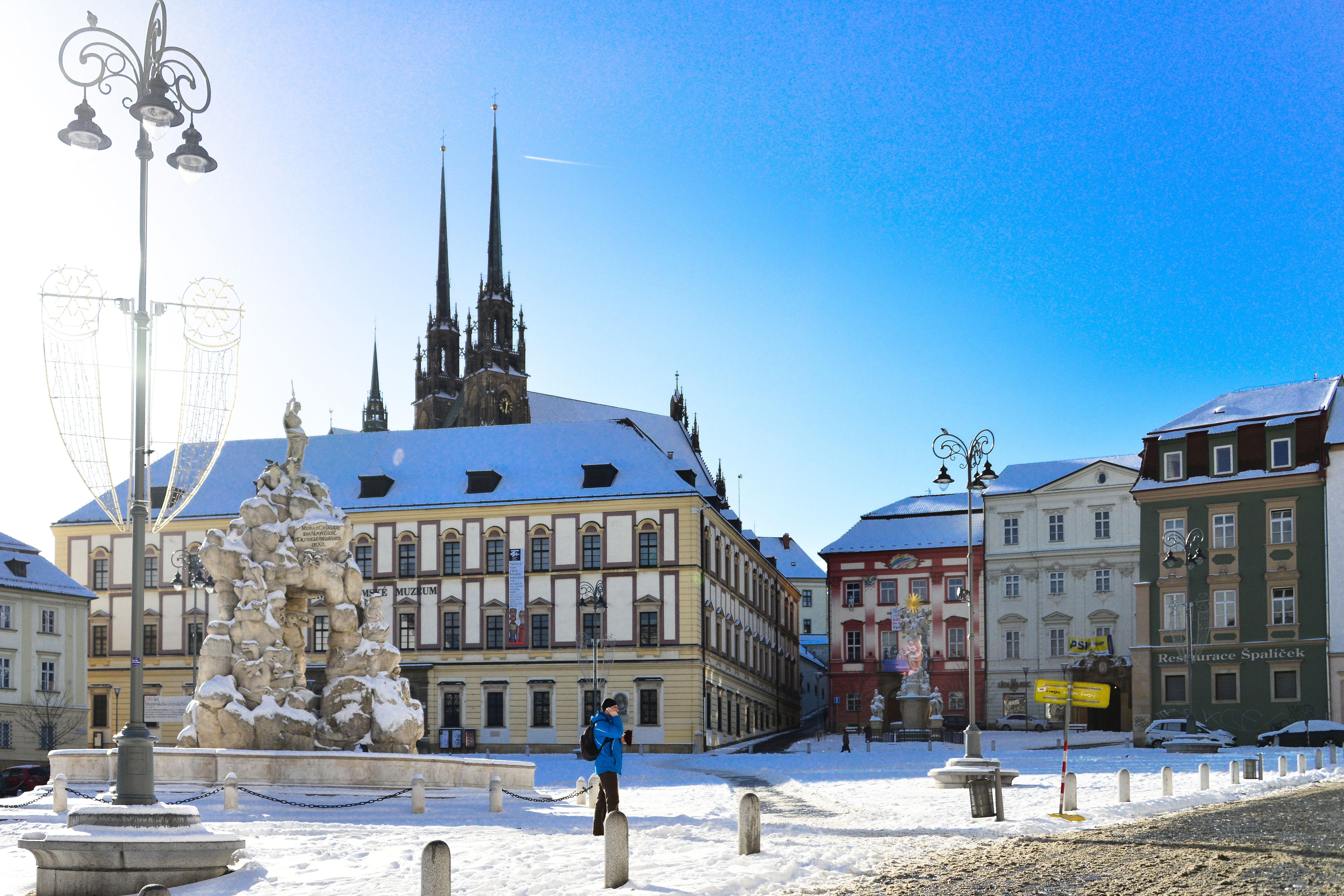 Krautmarkt in Brünn im Winter