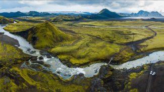 Island z ptačí perspektivy