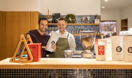 Cafe Placzek: Michal Grznár a herec Roman Blumaier