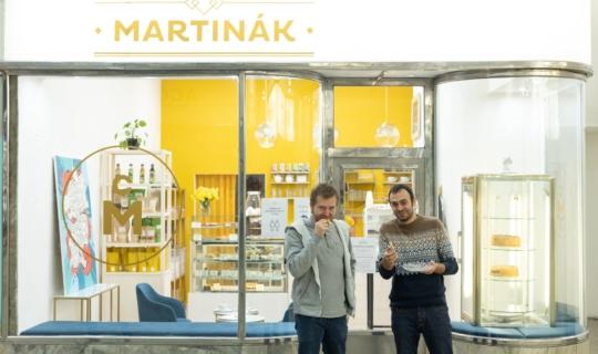 Cukrářství Martinák - Vít Martinák a herec Roman Blumaier