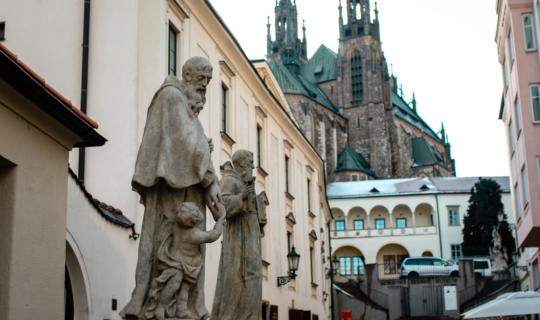 Kapucínský klášter - zrenovované sochy, (c) Františka Foto