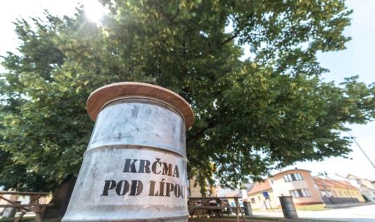 Bystrc - zákoutí u památné lípy, autorka Jiřina Rittichová