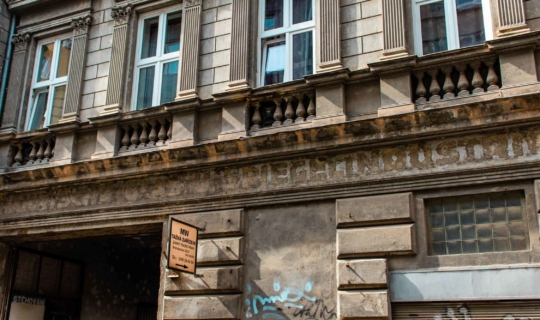 Ještě viditelný německý nápis. Foto_Františka FOTO