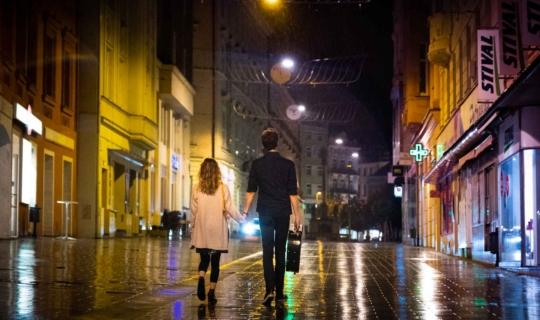 Film Marťanské lodě, natáčený také v Brně, zde ulice Kobližná